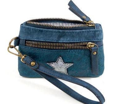 Blauwe portemonnee ster