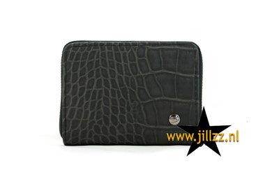 Kleine zwarte dames portemonnee