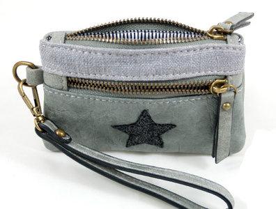 Lichtgrijs portemonnee ster