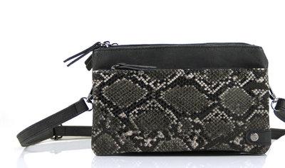 Zwart python schoudertasje