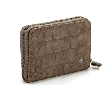 Kleine taupe dames portemonnee