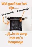 Heuptas Zorg 21,5 cm breed, met 2 ritsen en voorvak_