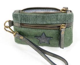 Groene portemonnee ster