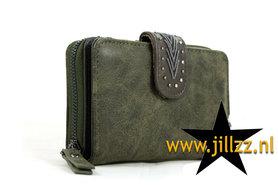 Donker groene dames portemonnee