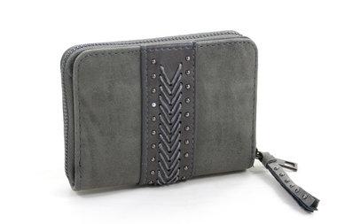 Kleine taupe/groene dames portemonnee